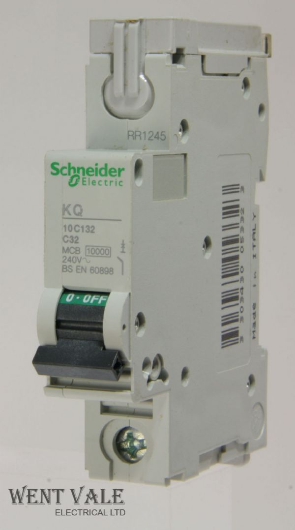 Schneider Loadcentre - KQ10C132 - 32a Type C Single Pole MCB Used